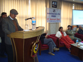 Vice President Prof. Puskar Kumar Sharma giving vote of thanks