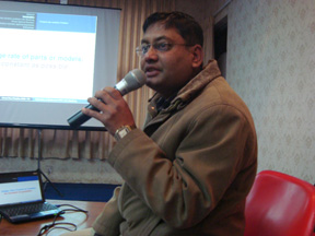 Mr. Shree Ram Khadka, CDM, TU presenting his thesis